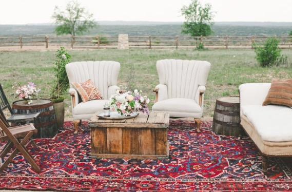 Boho rug setting_Photo credit: The Nichols