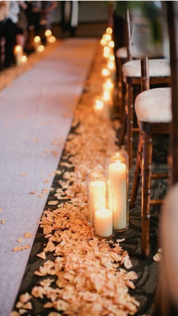 Candle walk way_Image via Pinterest. Photograph by Christian Oth