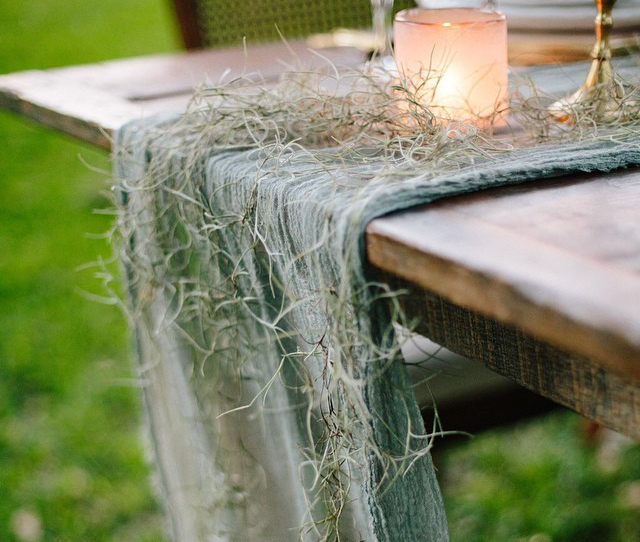 Dyed table runner