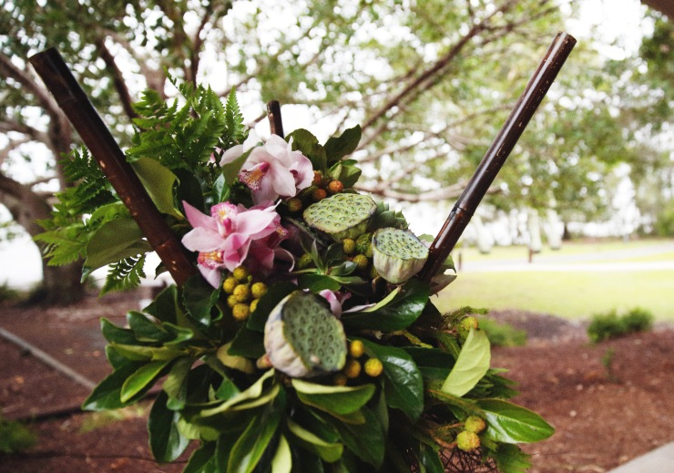 Emma and Grant_Real wedding_ceremony flowers