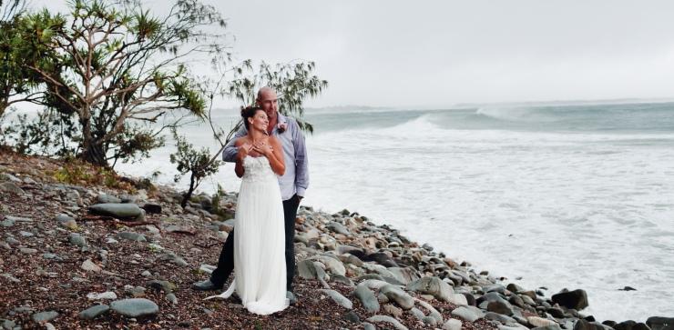 Emma & Grant_Noosa Real wedding_beach