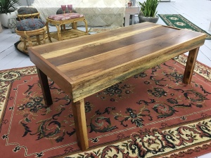 Low to ground timber table