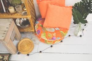 orange cushions